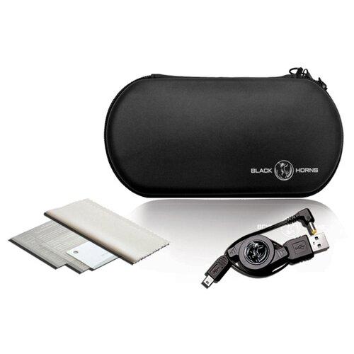 Black Horns Набор аксессуаров 5 в 1 для Playstation Portable (BH-PSE0804) черный/прозрачный