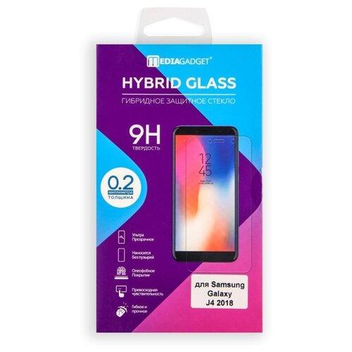 Защитное стекло Media Gadget Tempered Glass для Samsung Galaxy J4 (2018) прозрачный