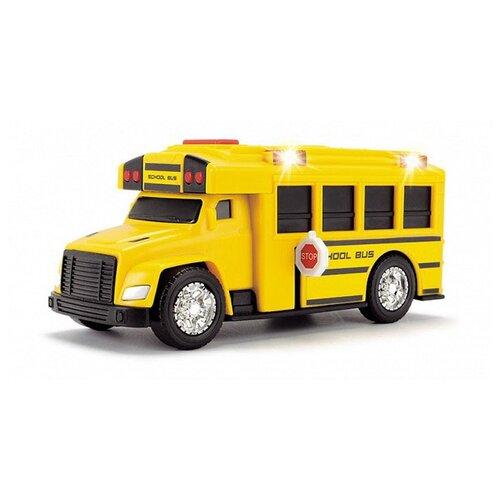 Фото - Автобус Dickie Toys школьный (3302017) 15 см желтый погрузчик dickie toys дорожно погрузочная машина 3726000 35 см желтый белый