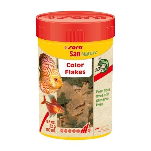 Сухой корм для рыб Sera San Nature 100 мл sera sera fd mixpur корм для рыб сублимированный мотыль трубочник дафния криль 100 мл