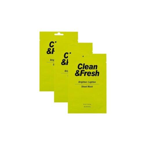 Eunyul тканевая маска Clean & Fresh для здорового цвета лица, 22 мл, 3 шт. маска для лица eunyul eunyul eu002lwcroz6