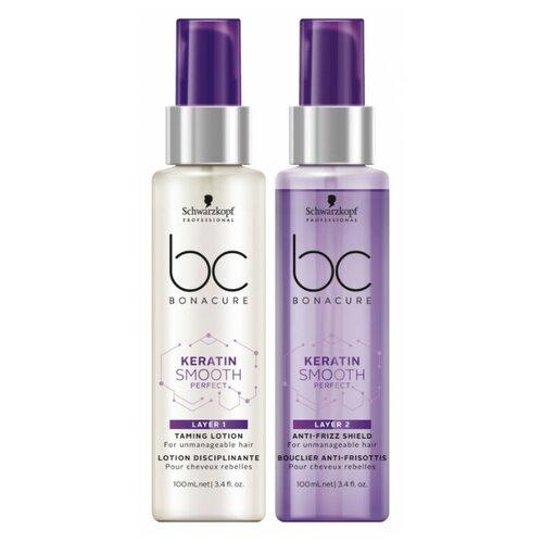 Фото - BC Bonacure Keratin Smooth Perfect Duo-Layering Двухступенчатый несмываемый уход для волос bc bonacure keratin smooth perfect маска для гладкости волос 750 мл