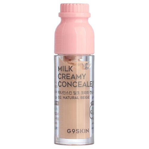 G9SKIN Консилер Milk Creamy Concealer, оттенок 02 natural beige g9skin консилер milk creamy concealer оттенок 01 light beige