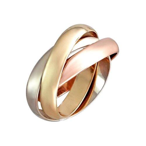 Эстет Обручальное кольцо Тринити из комбинированного золота 01О060269, размер 20.5 ЭСТЕТ