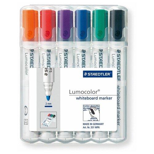 Купить Staedtler Набор маркеров Lumicolor, 6 шт. (351 WP6), Маркеры