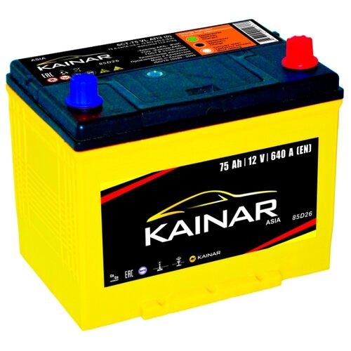 Автомобильный аккумулятор Kainar Asia 6СТ75 VL АПЗ о.п. 85D26L автомобильный аккумулятор kainar asia 6ст65 vl апз п п 88d23r