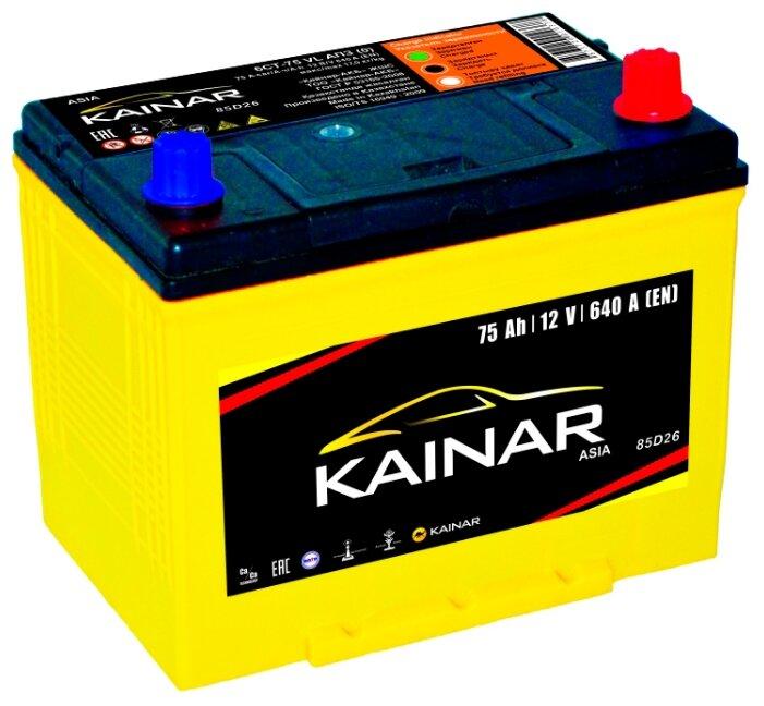 Автомобильный аккумулятор Kainar Asia 6СТ75 VL АПЗ о.п. 85D26L