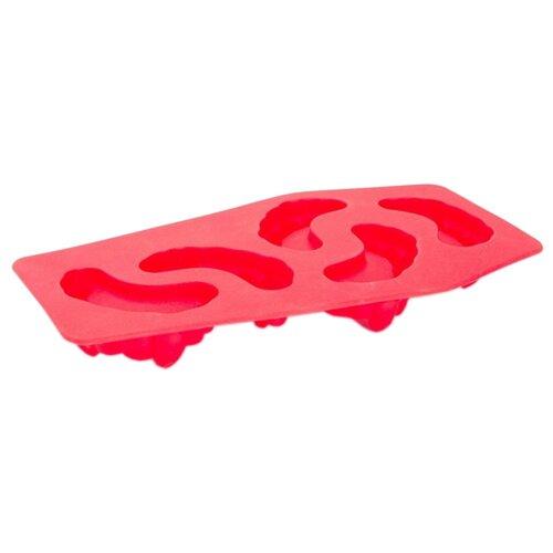 Форма для льда BRADEX Зубы Вампира, 5 ячеек красный форма для льда best home kitchen рыбка 20 5 11 5 2 см