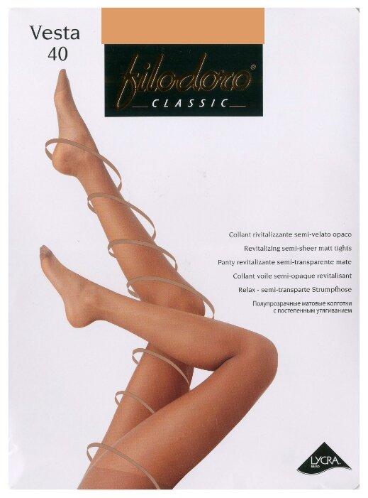 Купить Колготки Filodoro Classic Vesta 40 den, размер 3-M, cappuccio (коричневый) по низкой цене с доставкой из Яндекс.Маркета