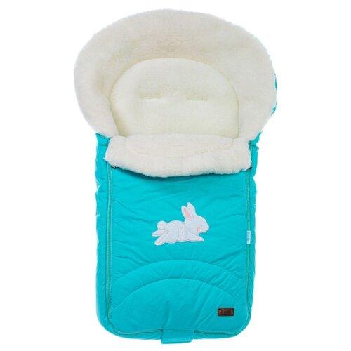 Конверт-мешок Nuovita Tundra Bianco меховой 90 см голубой конверт мешок nuovita tundra bianco меховой 90 см белый