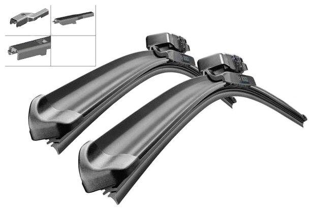 Щетка стеклоочистителя бескаркасная Bosch Aerotwin A212S 625 мм / 550 мм, 2 шт.