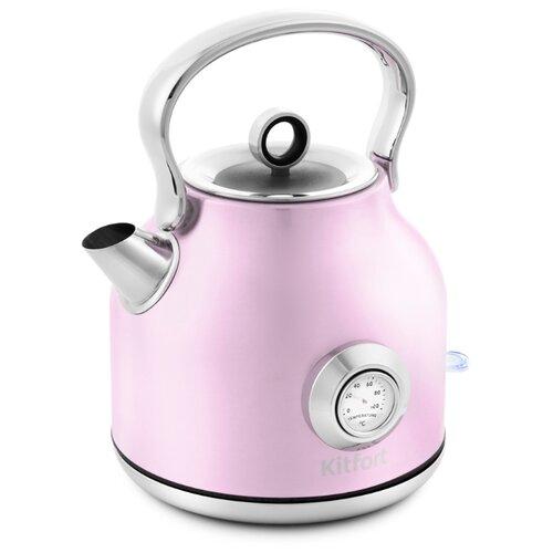 Чайник Kitfort КТ-673-4, розовый чайник kitfort кт 673 1 белый