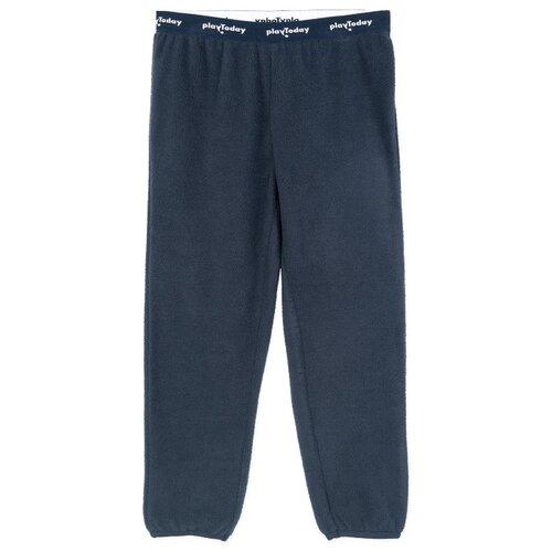 Купить Спортивные брюки playToday размер 140, темно-синий, Брюки