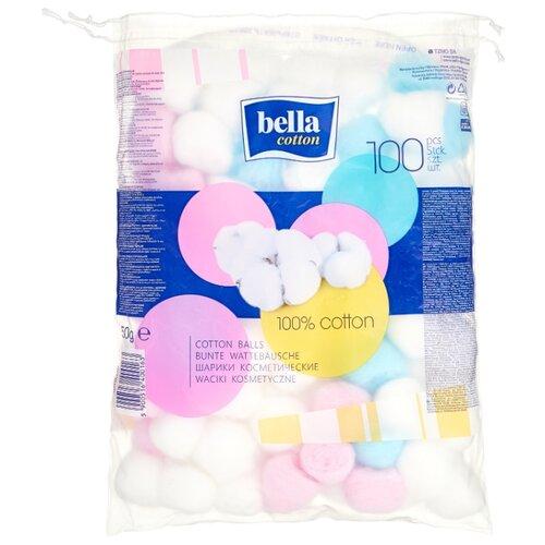 Купить Ватные шарики Bella Cotton косметические разноцветные, 100 шт.