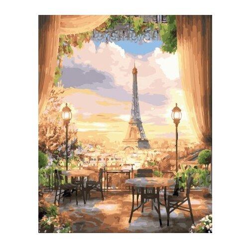 ВанГогВоМне Картина по номерам Панорама Парижа, 40х50 см (ZX 22148) вангогвомне картина по номерам белые краски парижа 40х50 см zx 22059