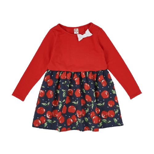 Платье Mini Maxi размер 104, красный/черешня платье oodji ultra цвет красный белый 14001071 13 46148 4512s размер xs 42 170