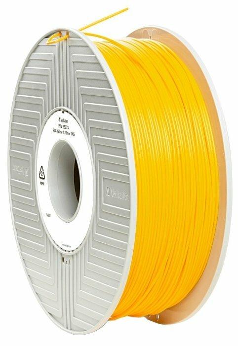 PLA пруток Verbatim 1.75 мм желтый