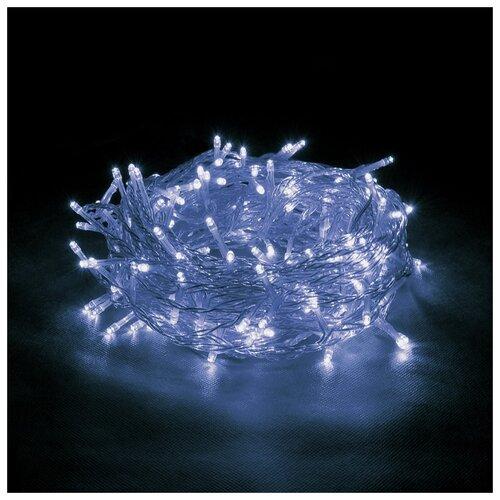 Гирлянда Vegas Бахрома световая постоянное свечение (300 х 60 см), 72 ламп, синий/прозрачный провод гирлянда shae цвет синий 90х240 см