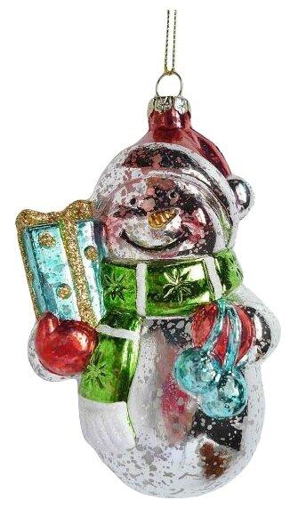 Ёлочное украшение Новогодняя сказка Снеговик 12 см (пластик)