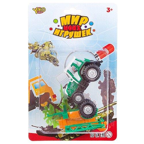 Фото - Трактор Yako Мир моих игрушек (M7556-1) зеленый набор машин yako мир моих игрушек m7558 1 белый