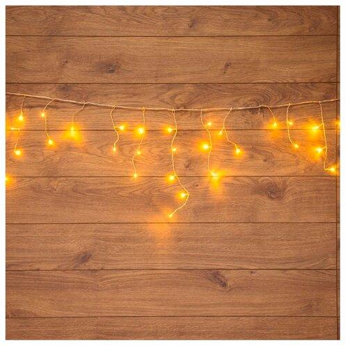 Гирлянда NEON-NIGHT Бахрома, 48 LED, 180х50 см, теплый белый/прозрачный провод