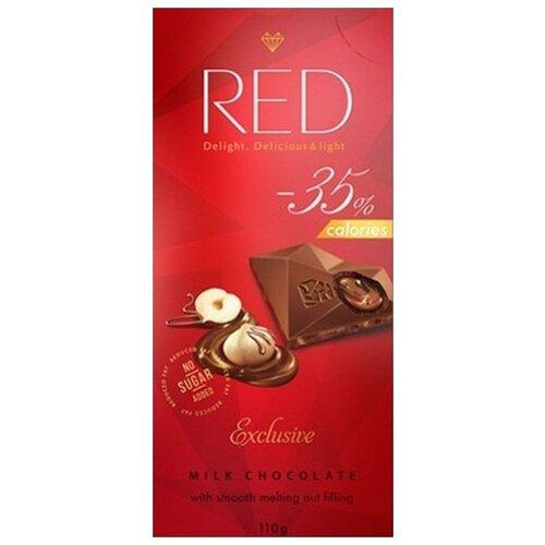 Шоколад Red Delight молочный с ореховой начинкой, 100 г