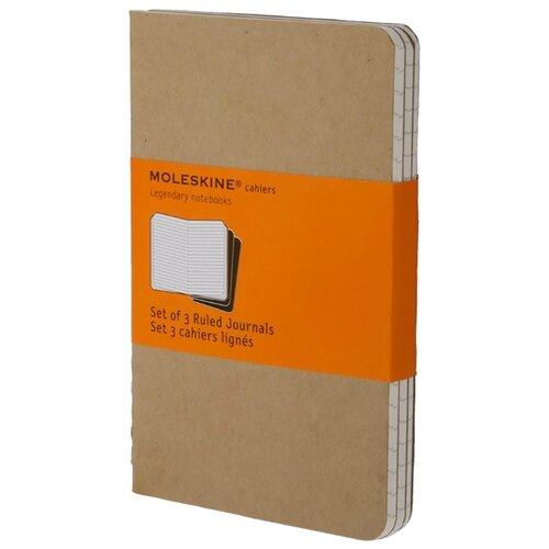 Купить Комплект блокнотов 3 шт. Moleskine Набор 3 блокнота Cahier Journal Large 130x210, 40 листов 385313(QP416), Блокноты