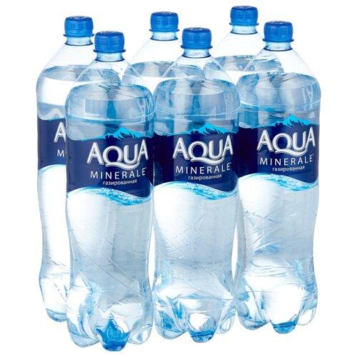 Вода питьевая Aqua Minerale газированная, ПЭТ, 6 шт. по 1.5 л вода питьевая aqua minerale active негазированная цитрус спорт пэт 12 шт по 0 5 л