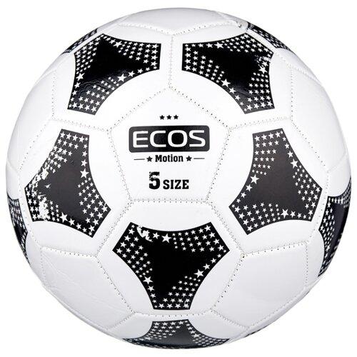 Футбольный мяч ECOS Motion белый/черный 5 мяч футбольный ecos petra 2013 22 abc 323265