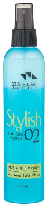 FLOR de MAN Восстанавливающая термозащитная маска-спрей для волос Hair Care System Stylish 02 Silky Shining two-phase