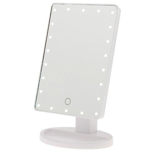 Купить Зеркало косметическое настольное LuazON KZ-06 с подсветкой белый