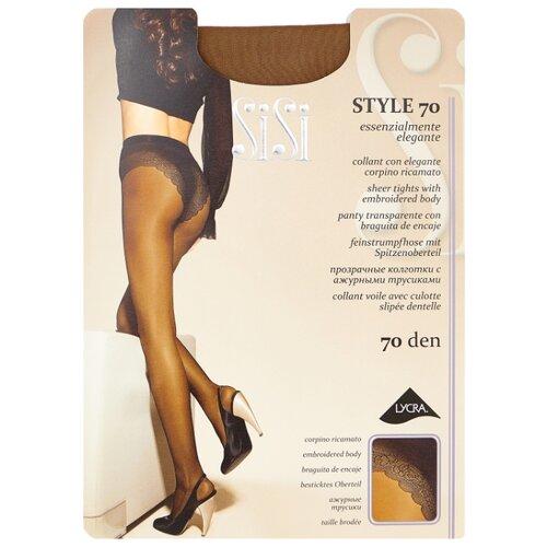 Колготки Sisi Style 70 den, размер 3-M, daino (бежевый) колготки sisi style 70 den размер 4 l daino бежевый