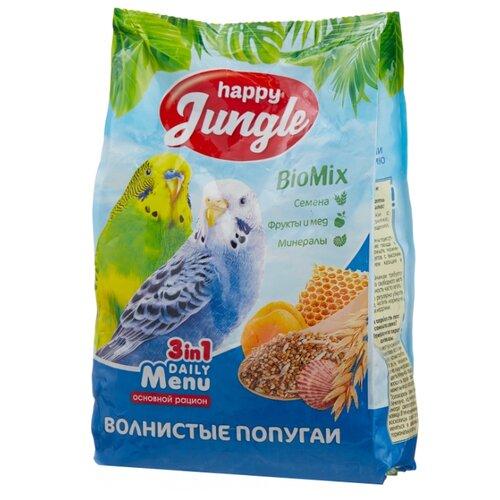 Happy Jungle Корм Daily Menu для волнистых попугаев 500 г