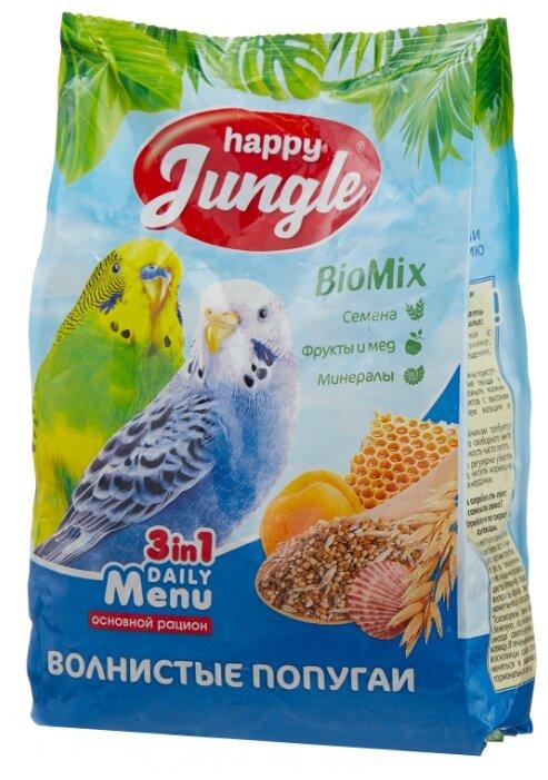 Корм HAPPY JUNGLE Корм для волнистых попугаев, 500 г