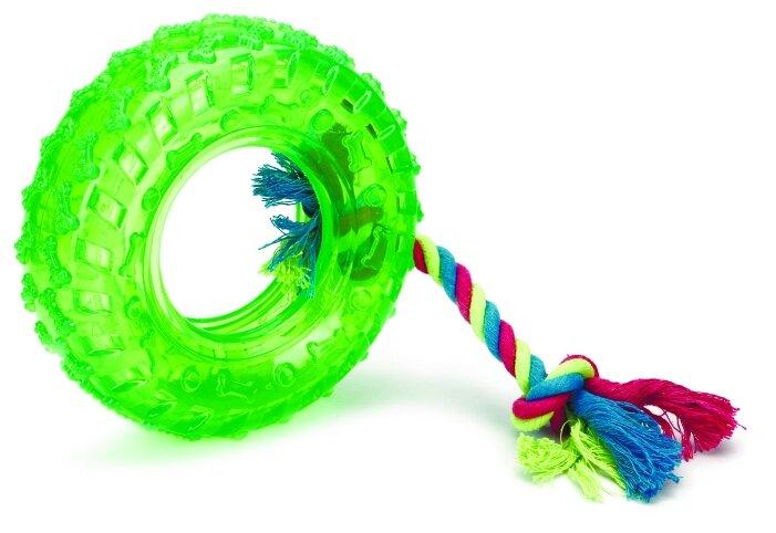 Игрушка для собак Beeztees Покрышка на веревке (392089)