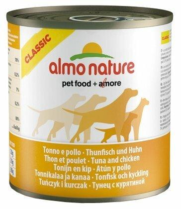 Корм для собак Almo Nature Classic курица, тунец 290г