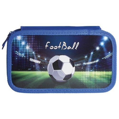 Юнландия Пенал Стадион (228110) синий ножницы юнландия ёжик 236982