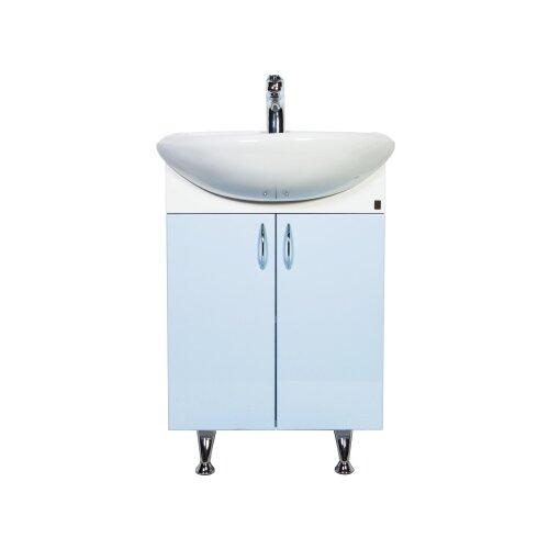 Тумба для ванной комнаты с раковиной Orange Роса Ro-60TU, ШхГхВ: 61.5х47х86 см, цвет: голубой