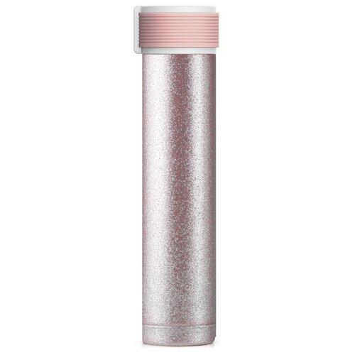 Фото - Термобутылка asobu Skinny Glitter (0,23 л) pink термобутылка asobu central park travel bottle 0 51 л медный серебристый