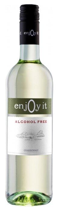 Вино белое сухое Enjoy It Chardonnay безалкогольное 0,75 л