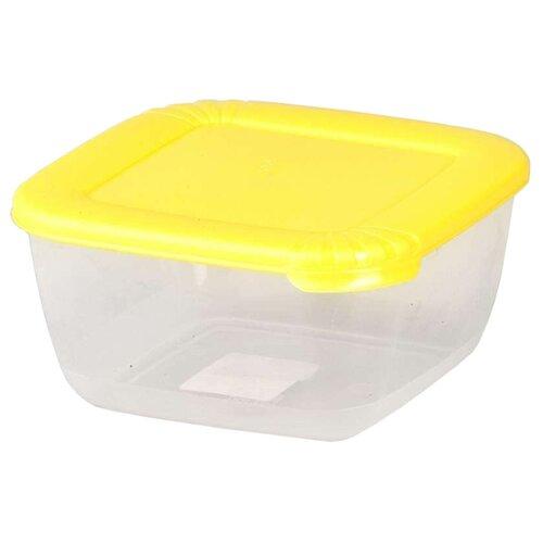 ПОЛИМЕРБЫТ Контейнер Лайт для СВЧ 0,46 л желтый/прозрачный контейнер для свч полимербыт spring time 1 1 л