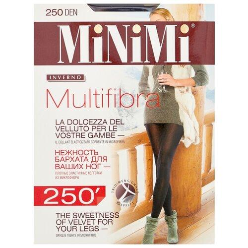 Колготки MiNiMi Multifibra 250 den, размер 2-S/M, fumo (серый) колготки minimi lanacotone 180 den размер 2 s m fumo серый