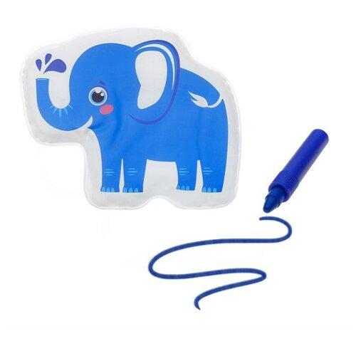 Купить Набор для ванной Крошка Я Слоник + водный карандаш (3045296) синий, Игрушки для ванной
