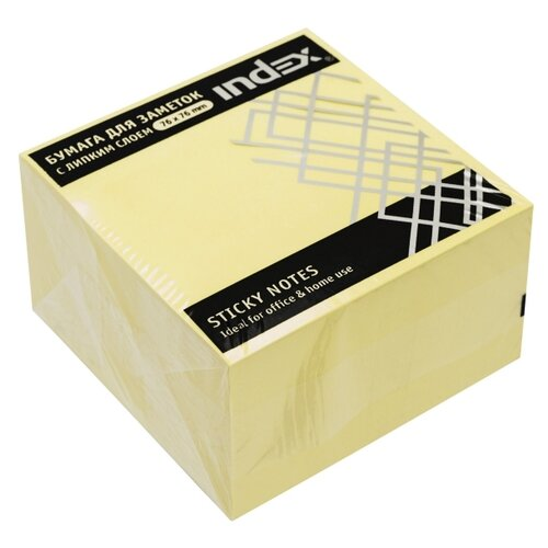 Index бумага для заметок с липким слоем 76х76 мм, 450 листов (I433611) желтый