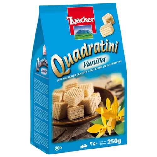 Вафли Loacker Quadratini Vanilla 250 г