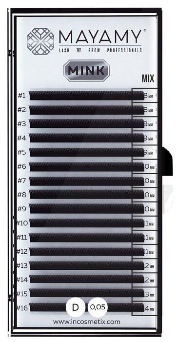 Innovator Cosmetics Ресницы MAYAMY MINK 16 линий D-изгиб 0.05 мм MIX