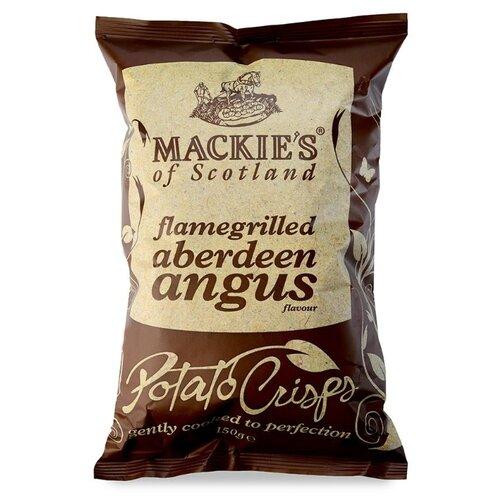 Чипсы Mackie's картофельные с говядиной Абердин-ангус на гриле, 150 г