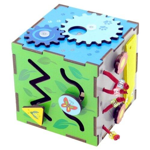Купить Бизиборд Мастер игрушек Бизи-кубик красный/голубой/зеленый/желтый, Развитие мелкой моторики