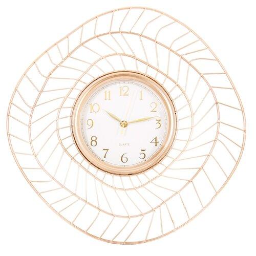 Часы настенные кварцевые La Geer 60807 золотистыйЧасы настенные<br>