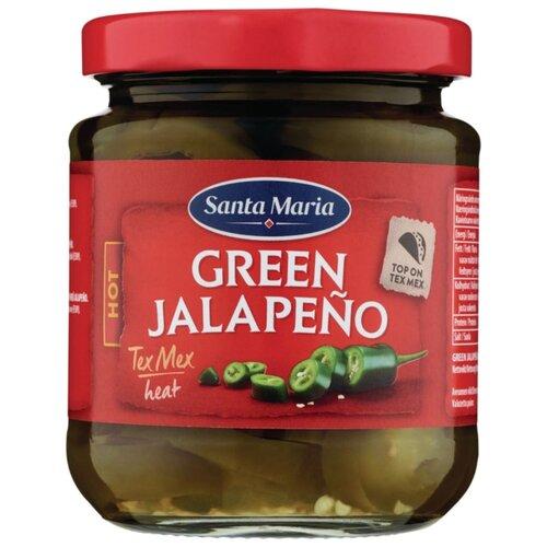 Перец зеленый халапеньо в маринаде Santa Maria стеклянная банка 215 г santa maria чипотл красный болгарский перец резаный 410 г